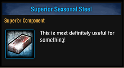Tlsdz superior seasonal steel