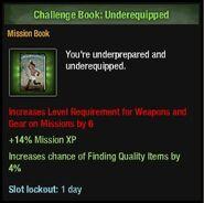 Underequipped book