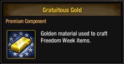 Gratuitous Gold