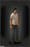 TLSDZ T-Shirt - White equipped male
