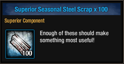Tlsdz superior seasonal steel scrap