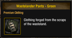 Wastelander Pants - Green
