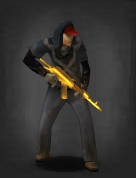 Survivor with Golden AK-47