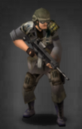 Survivor with scoped M-417