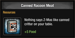 Tlsdz canned racoon meat