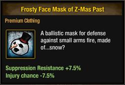 Tlsdz frosty face mask of z-mas past