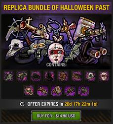 Tlsdz replica bundle of halloween past package 2015