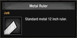 Metal Ruler