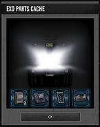Opened basic EXO Parts Cache box