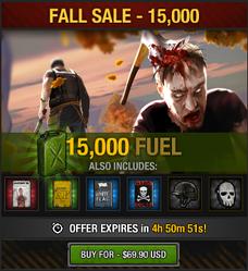 Tlsdz fall sale 15000 fuel