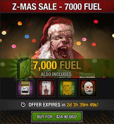 Tlsdz z-mas fuel sale 7000 fuel 2014