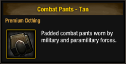 Combat pants-tan