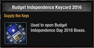 Budget Independence Keycard 2016