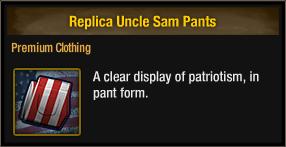 Replica Uncle Sam Pants