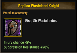 Replica Wasteland Knight