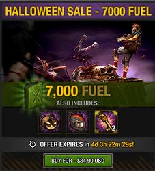 Tlsdz halloween sale - 7000 fuel