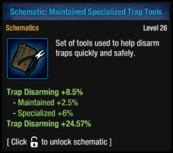 Maintained Specialized Trap Tools