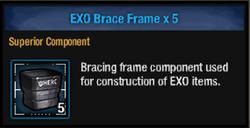 Exo brace frame