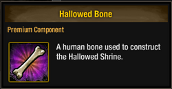 Tlsdz hallowed bone