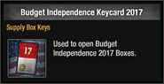 Budget Independence Keycard 2017