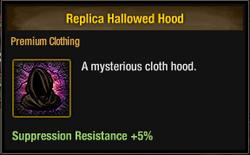Tlsdz replica hallowed hood