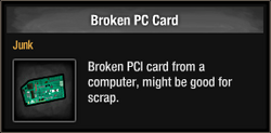 Broken PC Card