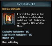 Tlsdz crafting kit - rare shielder kit