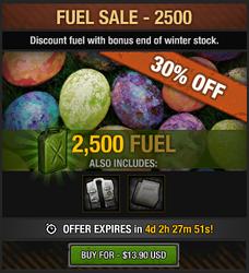 Easter Fuel Sale 2016 - 2500 fuel