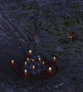 Tlsdz hallowed shrine at night