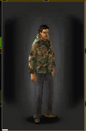 Camo Shirt - Woodland equipped male