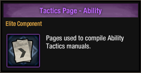 Tactics Page - Ability