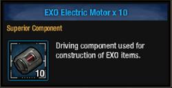 Exo electric motor
