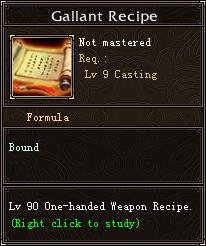 Gallant Recipe
