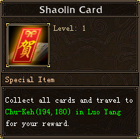 Shaolin Card