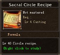 Sacral Circle Recipe