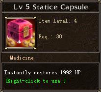 Lv 5 Statice Capsule