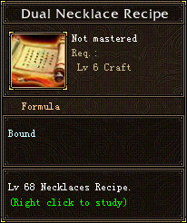 Dual Necklace Recipe