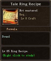 Tale Ring Recipe