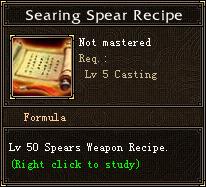 Searing Spear Recipe