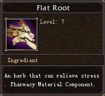 Flat root