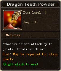 Dragon Teeth Powder