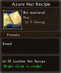 Azure Hat Recipe