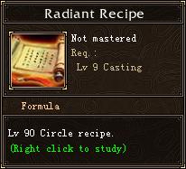 Radiant Recipe