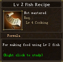Lv 2 Fish Recipe