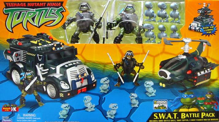 Teenage Mutant Ninja Turtles 2003 Toys : S w a t battle pack toy tmntpedia fandom