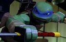 Leonardo with katanas