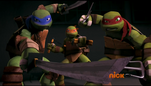 Leo, Mikey and Raph