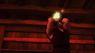 Saki's face burning