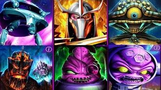 ALL Boss Fights - Teenage Mutant Ninja Turtles Legends