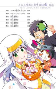 Toaru Majutsu no Index Manga v15 Table of Contents